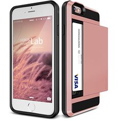 """iPhone 6S Plus Case, Verus [Damda Slide][Rose Gold] - [Card Slot][Drop Protection][Heavy Duty][Wallet] - For Apple iPhone 6 Plus and iPhone 6S Plus 5.5"""" Devices"""