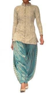 Indian Cocktail Party Dress:-Banarsi Sherwani and Patiala Salwar