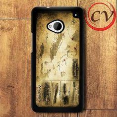 World HTC One M7 Black Case