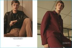 Tim Schuhmacher appears in an editorial for L'Express Styles, wearing fashions…