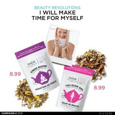 Avon Rep Tip: Don't forget to make time for yourself this year. Relax and unwind with one of our amazing teas!