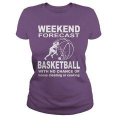 Awesome Tee Weekend forecast BASKETBALL Shirts & Tees