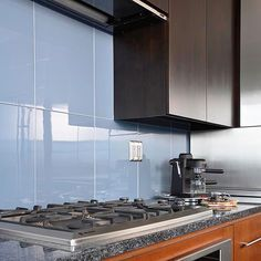 Smoke Glass Subway Tile Kitchen backsplash Subway tiles and Smoking