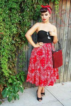 Superbe robe annee 60 vetement vintage femme chic rockabilly moderne