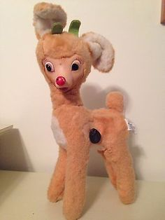 Rudolph Dog Toy 22 inch Rare Vintage looking