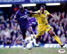 Lassana Diarra Autographed 8x10 Photo Chelsea PSA/DNA