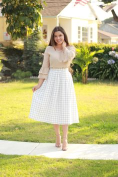 Don't miss out on our beautiful French designed Mabel skirt. ❤️ This beautifully made, great quality skirt is found in upscale clothiers. ❤️ (Izabella top also available)