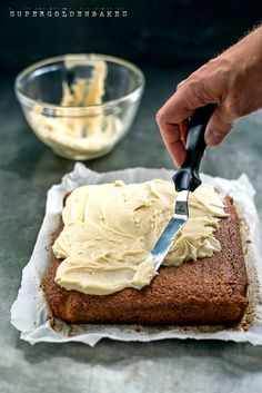 Banana cake with maple frosting...