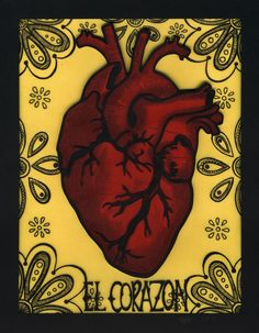 paper cuts and bigger things: la sirena y el corazón Shrink Plastic Jewelry, Loteria Cards, School Painting, Anatomy Art, Mexican Folk Art, Zentangle Patterns, Heart Art, Sacred Heart, Art And Architecture