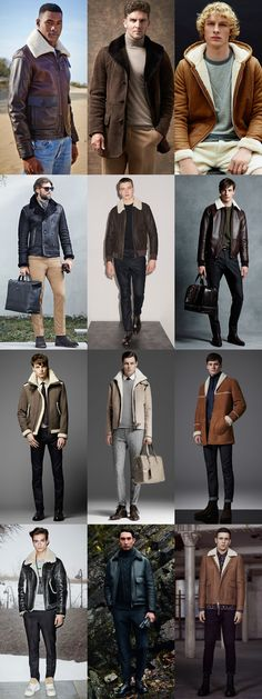 Men's 2015 Autumn/Winter Fashion Trend Preview: Shearling Outerwear/Jackets Outfit Inspiration Lookbook