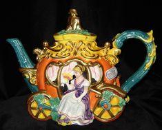 Fitz & Floyd - Cinderella's Royal Coach Teapot 1995
