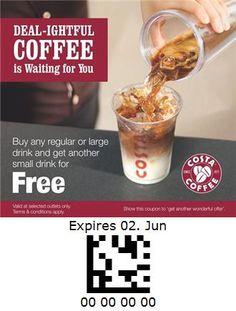 Costa Coffee - India Costa Coffee, Oatmeal, Coupon, India, Drinks, Breakfast, Food, The Oatmeal, Drinking