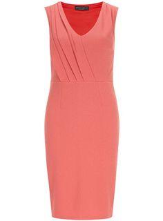 Tall coral crepe pencil dress - View All Dresses - Dresses
