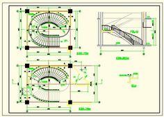 Elliptical staircase detail-AutoCAD Blocks-Crazy 3ds Max