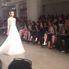 Fabulous!!! Bringing romance to the runway is @amsalebridal with their new collection. #Amsale #amsalebridal #nybm #newcollection #nybridalmarket #nybridalmarket2015 #nyc #bride2016 #blogger #blog #bridalgown #bridalweek #bridalmarket #bridaldesigner #deb