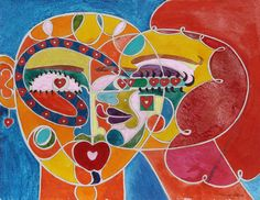 Artist: Benson Seto, American (1936 - 2005) Title: Couple Year: 2004 Medium: Acrylic on Paper, signed l.r. Size: 15 in. x 19 in. (38.1 cm x 48.26 cm)