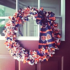 Chicago bears wreath on Etsy, $40.00
