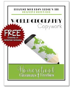 FREE World Geography Maps & Copywork Book