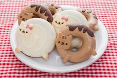 Super Cute Animal Donyatsu Doughnuts by  @donyatsu_anime on Twitter    #sweet #yummy #food #donut #doughnut #donyatsu #kawaii