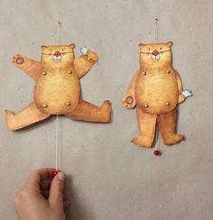 Kleiner Bär, der deine Wand fröhlicher macht und dich hoffentlich auch.   Adams-Braut auf dawanda