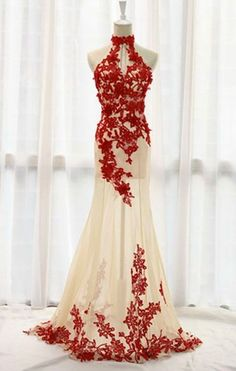 Fashion Prom Dresses,Champagne Prom Dress,Tulle Formal Gown,Red Prom Dresses,Lace Evening Gowns,Lace Formal Gown For Teens #eveningdresses