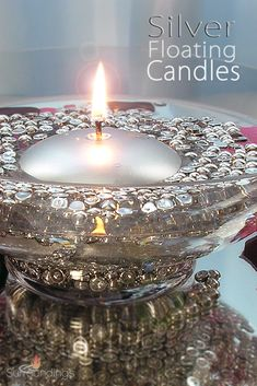 Gold silver round floating candles are simply perfect to dress up your centerpiece. Gold and silver accent spots are and will burn 3 to 4 hours. Trim wicks to Silver Centerpiece, Floating Candle Centerpieces, Gold Candles, Wedding Table Decorations, 4 Hours, Silver Rounds, Mini, Tables, Dress