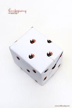 Printable Thanksgiving Gift Wrap   willowday