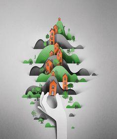 » Espectaculares Ilustraciones en Papel por Eiko Ojala
