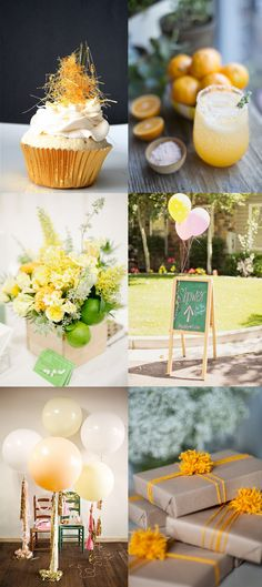 like these balloons!!! and gold metallic cupcake paper