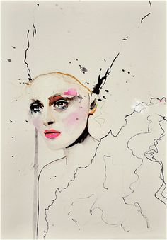 Paolo Roversi Series 3 - Fashion Illustration Art Print by Leigh Viner