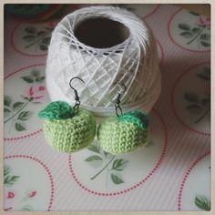 Boucles d'oreilles pommes de Sissi Pâquerette sur DaWanda.com
