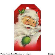 Vintage Santa Claus Christmas Gift Tags