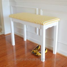 Craftaholics Anonymous DIY Old Desk To Hallway Bench Add A Fresh