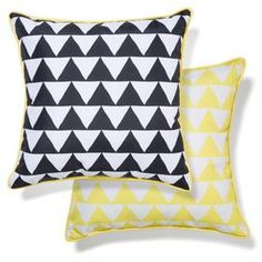 Outdoor Chair Cushion  Yellow/Black Triangles Part 82