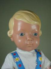 """P947/ alte Schildkröt """"Inge"""" Celluloid Puppe 45  cm ca.1950"""