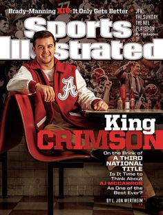 AJ McCarron sporting the cover of Sports Illustrated this week.