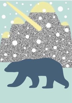 Share it & Receive it with our compliments! Winter Wonderland Bear art print :: http://www.chickduckgoose.com/products/winter-wonderland || *Until February 8, 2014