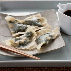 The Good News These nicely spicy dumplings are a wonderful way to eat spinach, which is rich in vitamin C, beta-carotene, magnesium, riboflavin, folat...