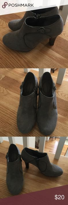 Solesenseability Grey Booties Grey faux suede booties. Memory foam on the heal and toe inside boot. Side zip. Worn once! Any questions please ask! Thanks! solesenseability  Shoes Ankle Boots & Booties
