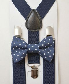 Ring Bearer bow tie and suspenders set