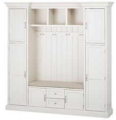 "Amazon.com - Royce All in one Mudroom, 81""Hx79""Wx17""D, POLAR WHITE -"