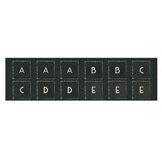 Buy East of India Small Letter Stickers, Pack of 60, Black Online at johnlewis.com