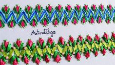 Decorative stitches with threads and ribbons Border Embroidery, Embroidery Stitches, Hand Embroidery, Cross Stitch, Youtube, Ribbons, Videos, Brazilian Embroidery, Scarf Design