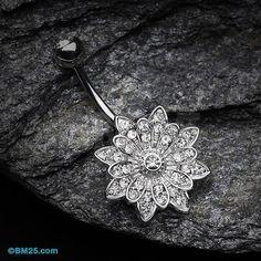 6fed6bc3416528 Fleur Enchant anneau de nombril Bellybutton Piercings
