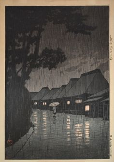 Nature Is Perfectly Miserable in These Rare Japanese Woodblock Prints | The Creators Project