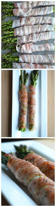 This is an unbelievably easy recipe that's perfect for weekend barbecues or a weeknight side dish! 5.0 from 7 reviews Print Bacon Wrapped Asparagus Prep time: 5