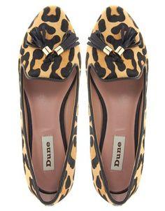 leopard tassle loafer / asos