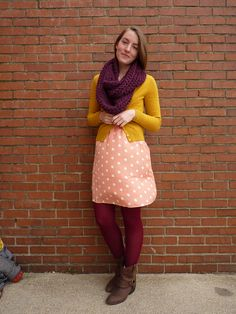 Tania, from What a Nerd Would Wear wearing our polka dot dress