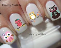 Super Cute Owls Nail Decals                                                                                                                                                                                 More