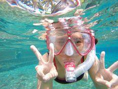 LEt's snorkeling in the fresh water of Umbul Ponggok, Klaten, Central Java.